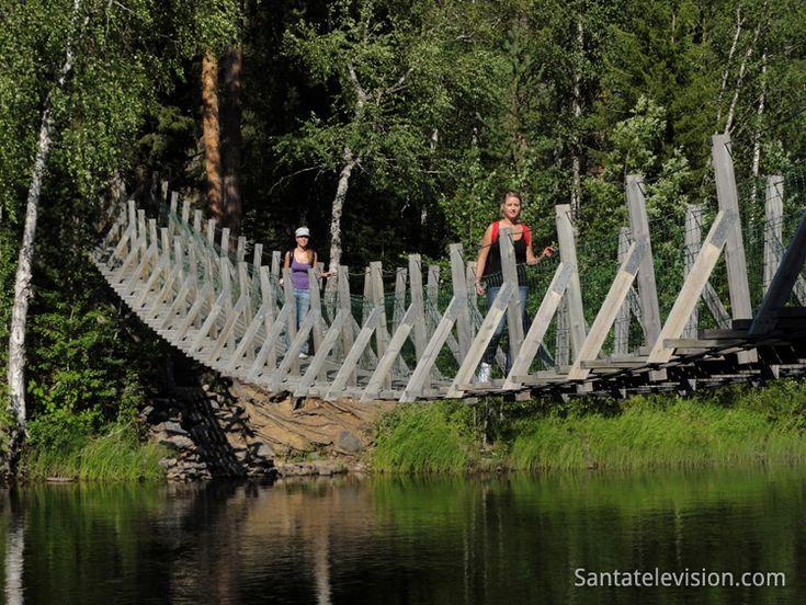 Parque Nacional de Oulanka na Lapónia na Finlandia