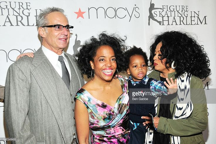 Robert Silberstein, Rhonda Ross, Raif-Henok Kendrick and Diana Ross attend the 2012 Skating with the Stars gala at theWollman Rink - Central Park on April 2, 2012 in New York City.