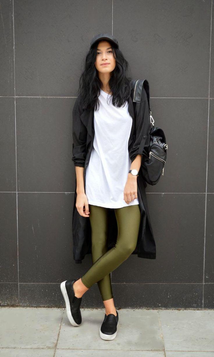 Savina in the PCP olive leggings  #pcpclothing #pcpleggings