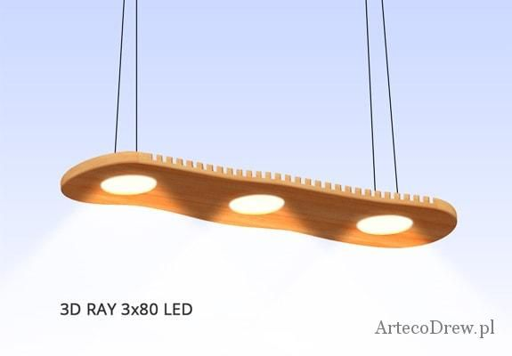 Lampa LED Light 3D Ray Artecodrew | ArtEcoDrew
