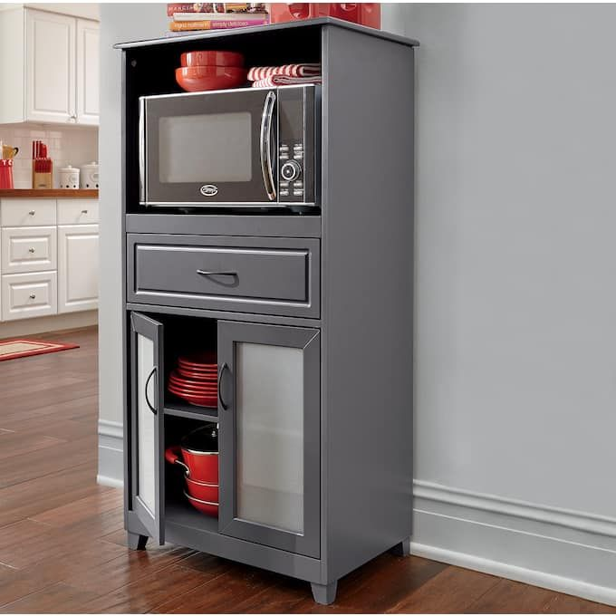 7 Ways To Create A Kitchen That Improves The Life Lived There Built In Microwave Cabinet Microwave Cabinet Kitchen Innovation