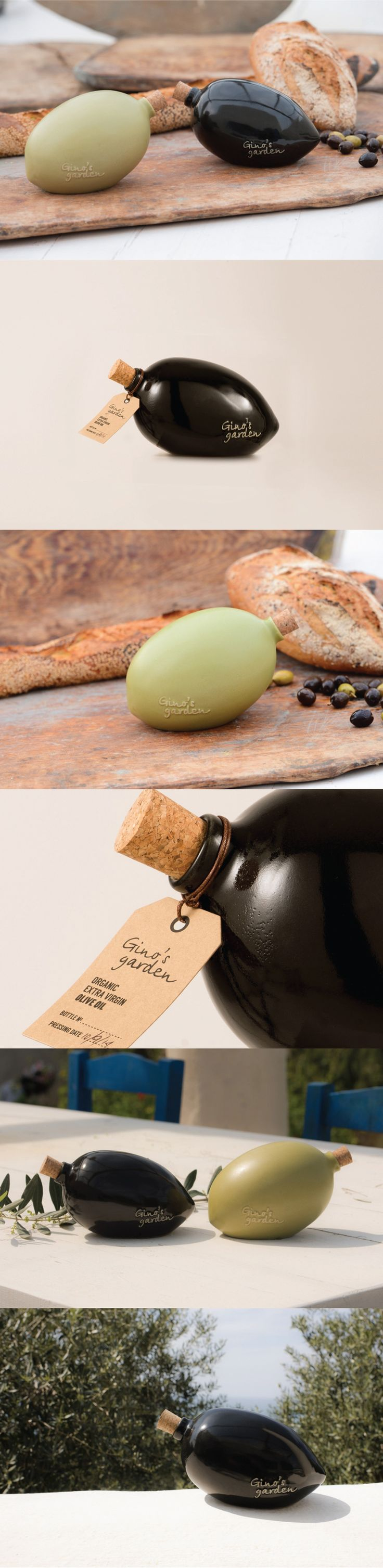 Gino's Garden Olive. The bottle is shaped by calculations which only NASA scientists could understand. #packaging #design