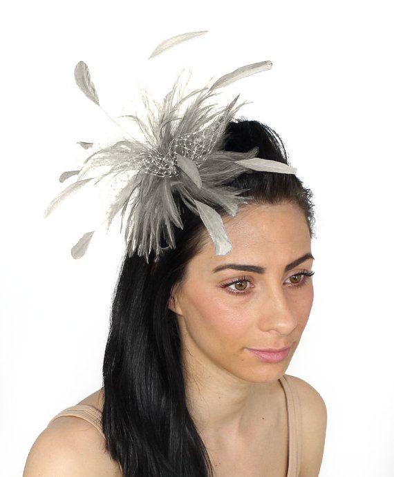 Cleo Metallic Silver Fascinator Hat for Weddings by Hatsbycressida