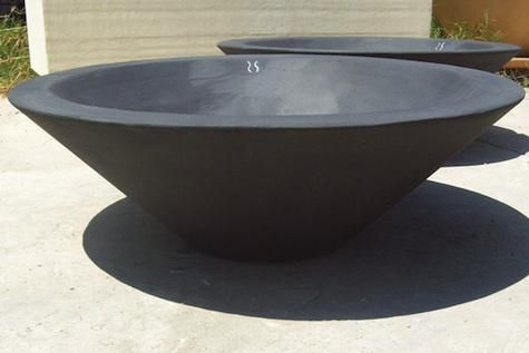 cement bowl for outdoor decor | ... Concrete Asian Wok Fire Bowl (shown), contact Concrete Creations