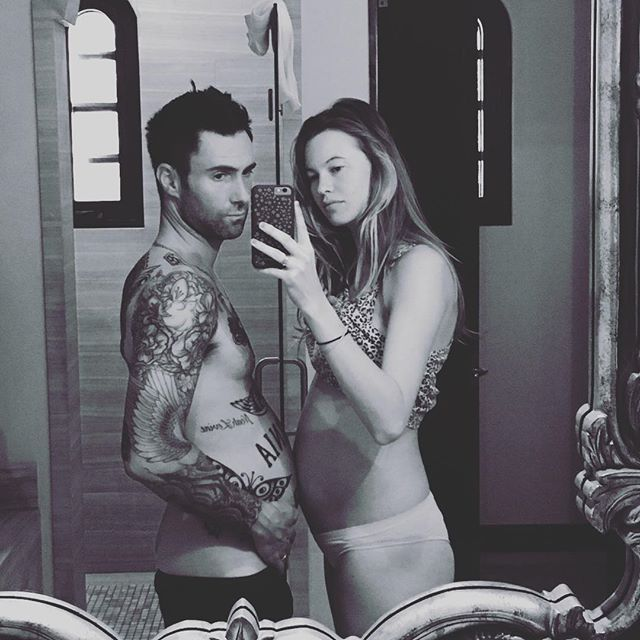 Pin for Later: Behati Prinsloo Just Keeps the Adorable Baby Bump Pictures Coming