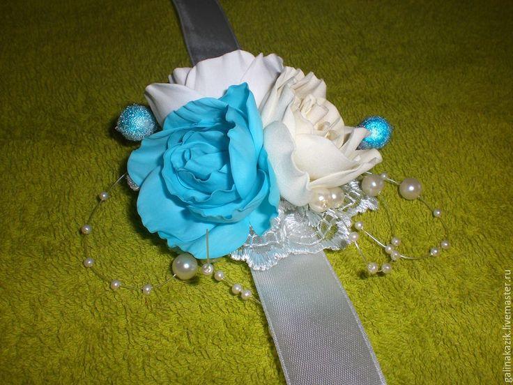 Купить Браслеты для подружек невесты. - белый, айвори, тиффани, браслет, Браслет ручной работы
