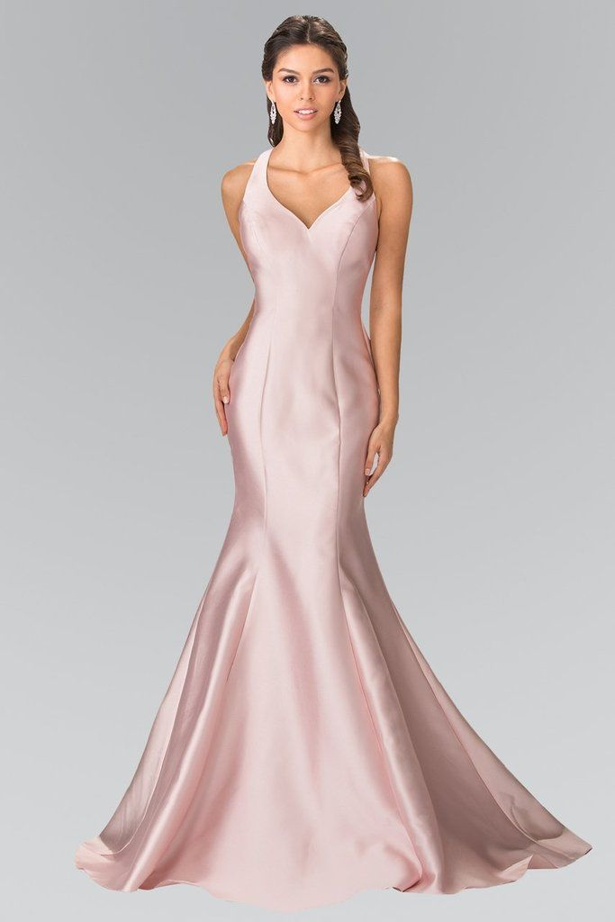 58b95a9d58c Elizabeth K - GL2224 Chic V-Neck Mikado Mermaid Dress – Couture Candy
