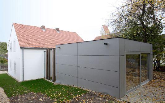 Außenfassade Neubau - Sanierung und Neubau Wohnhaus Beer-Fuchs