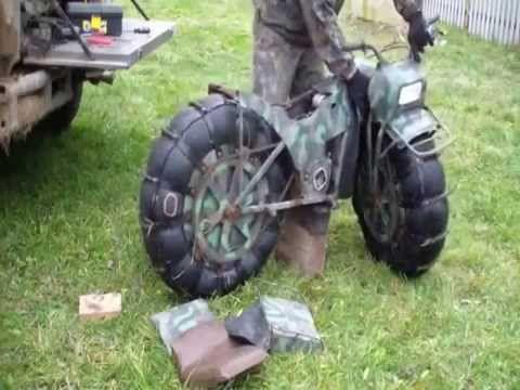 Moto militar Russa para todo terreno - YouTube