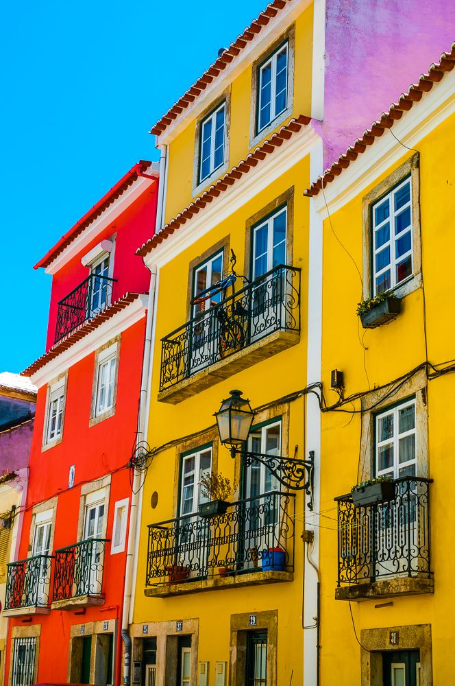 Colourful Houses, Lisbon, Portugal