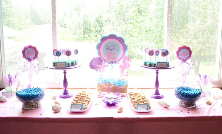 Under the Sea/ Mermaid Birthday Party Ideas | Photo 10 of 14 | Catch My Party