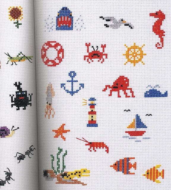 Nautical themed mini-cross stitch patterns THESE ARE SO CUTE XD