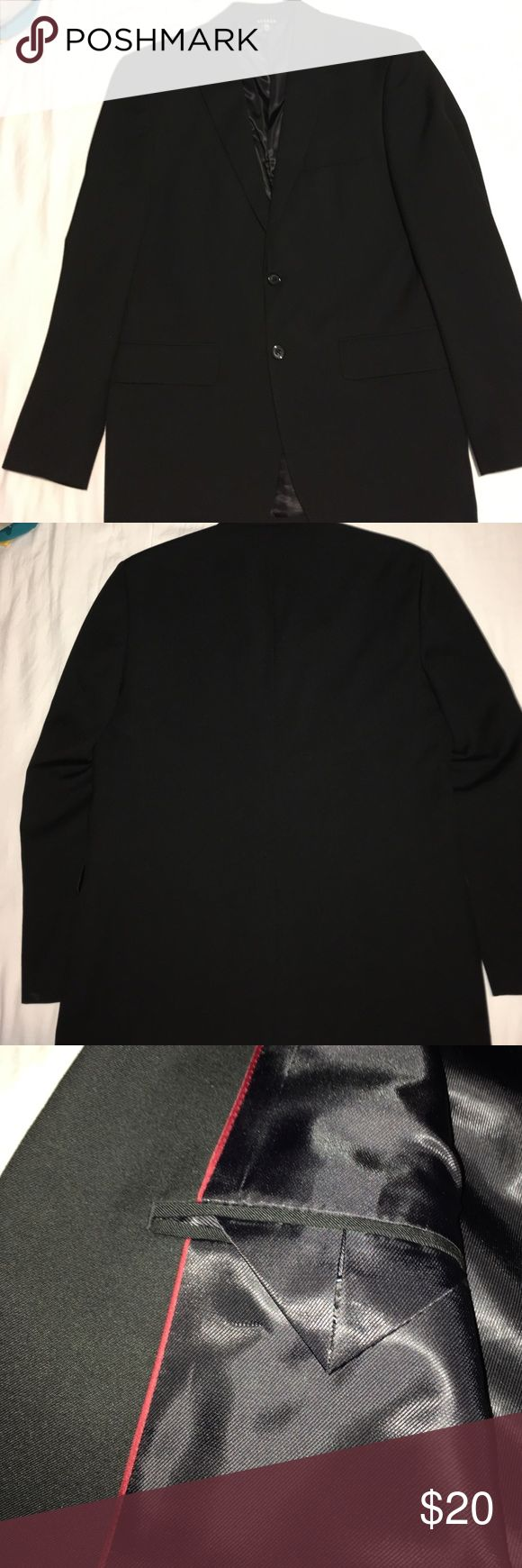 Black suit jacket 38R Black suit jacket 38R, like new, no flaws. George Suits & Blazers Suits