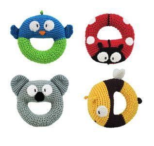 Dandelion - Handmade Crochet Ring Rattle - Koala