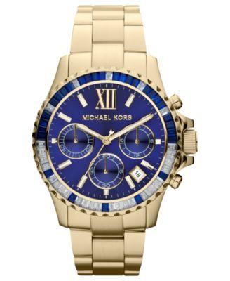 Michael Kors Watch, Women's Chronograph Gold-Tone Stainless Steel Bracelet 42mm MK5754