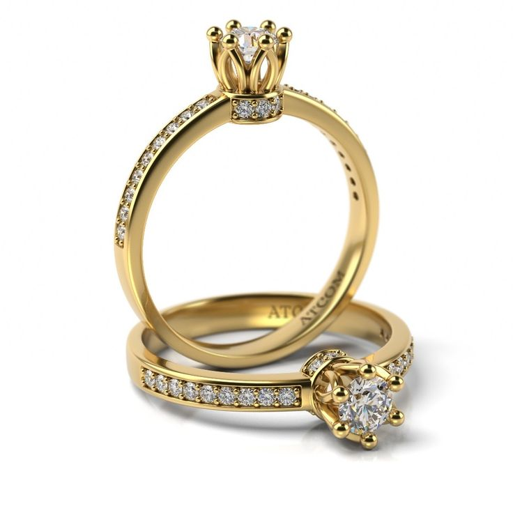 Inel de logodna cu diamante STEPHAN din aur galben