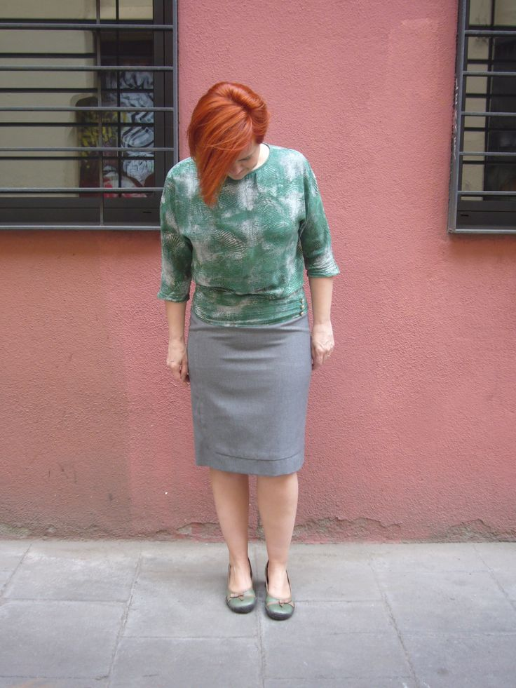 Day 18 Apron skirt, Paco Peralta Pattern, the blouse is the same I wore day 12. http://dedalagujaehilo.blogspot.com.es/2013/03/apron-skirt.html