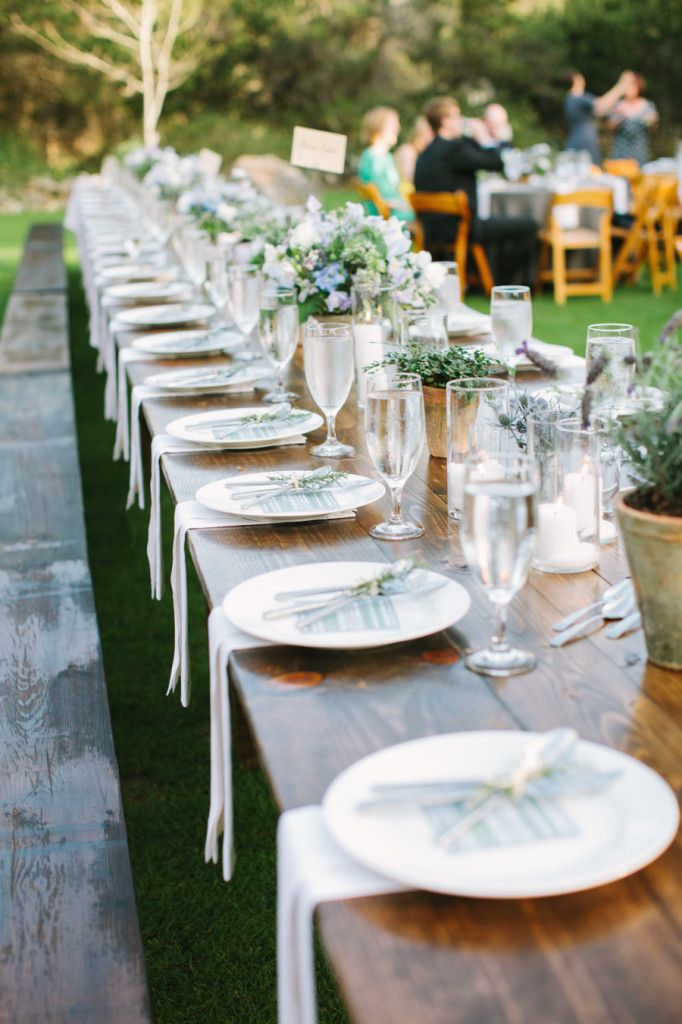 Picnic table style seating!  Photo: Christine Sargologos