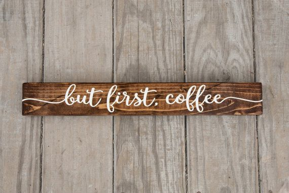 But First Coffee Sign Rustic Wood Kitchen by LibertyIslandFarm