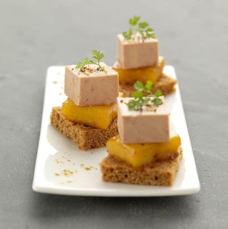 Foie gras pain d'épices mangue