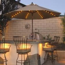 Always loved the idea of lights under a patio umbrella