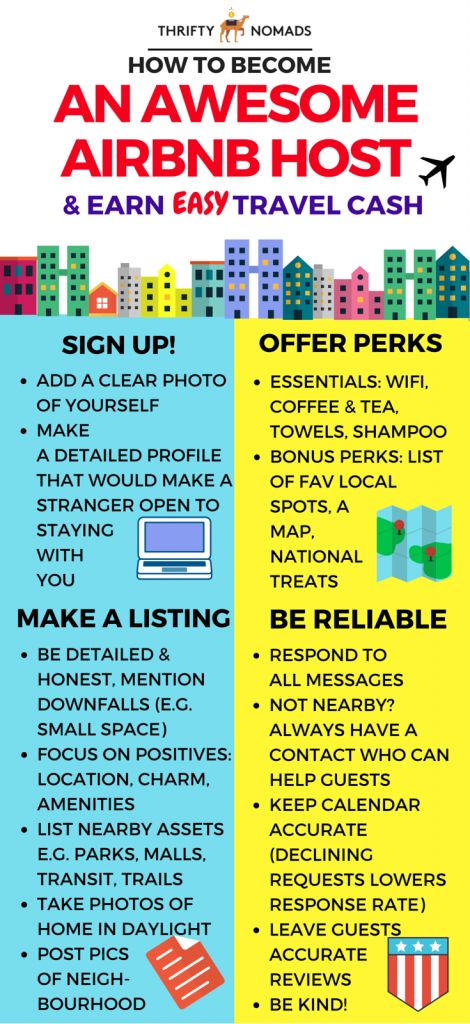 Quick tips & tricks to being a GREAT AirBNB host! More hacks & how-to's in the article :) #budgettravel