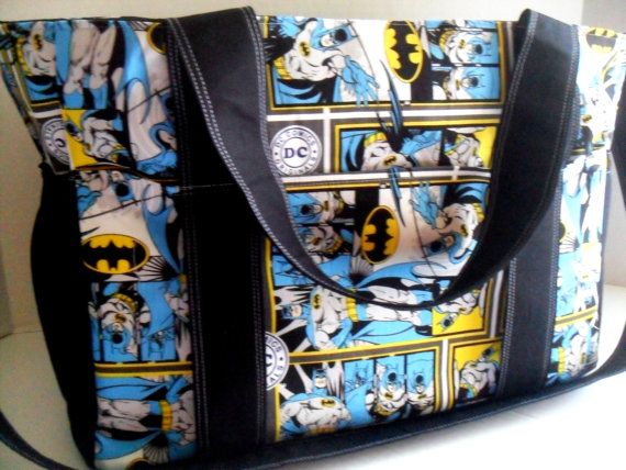 Extra Large Diaper bag Made of Batman DC comics by fromnancy