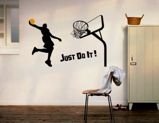 Cheap Vinyl Wall Clock Decal, Buy Quality Vinyl Art Decals Directly From  China Wall Decal Art Suppliers: Drop Ship Sportsman Just Do It Basketball  Player ...