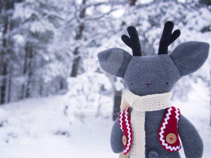 Rudolf the rag-reindeer by kittyvane.deviantart.com on @DeviantArt