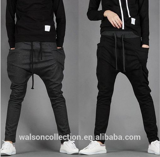 Men Jogger Pants Size M-2XL Drawstring Waistband Two Pocket Design Man Sport Sweatpant