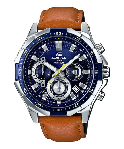 Casio Edifice EFR-554L-2AV - For Men Price In Pakistan  PRODUCT DESCRIPTION   Case / bezel material: Stainless steel  Genuine Leather Band  Mineral Glass  Screw Lock Back  100-meter water resistance  1-second stopwatch Measuring capacity: 29'59 Measuring modes: