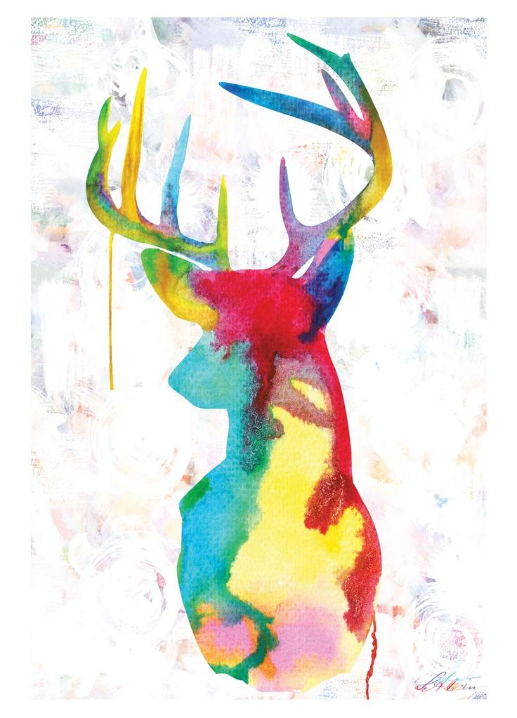'Oh Deer' canvas artwork on livingExclusive
