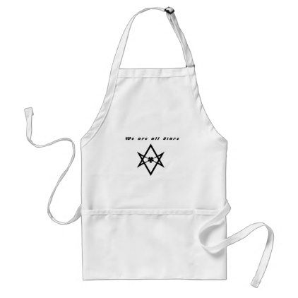 we are all stars adult apron - light gifts template style unique special diy