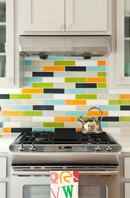 Great Mix Colorful Kitchen Tiles Backsplash Ideas Make Your Kitchen More Lively With Colorful Ideas