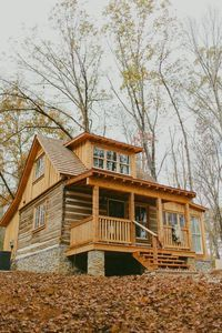 Modern Cabin By Bear Lake. At the bequest of its new owners, this soulfully modern log cabin was reassembled in 2015 by the man who purchased and moved it o...