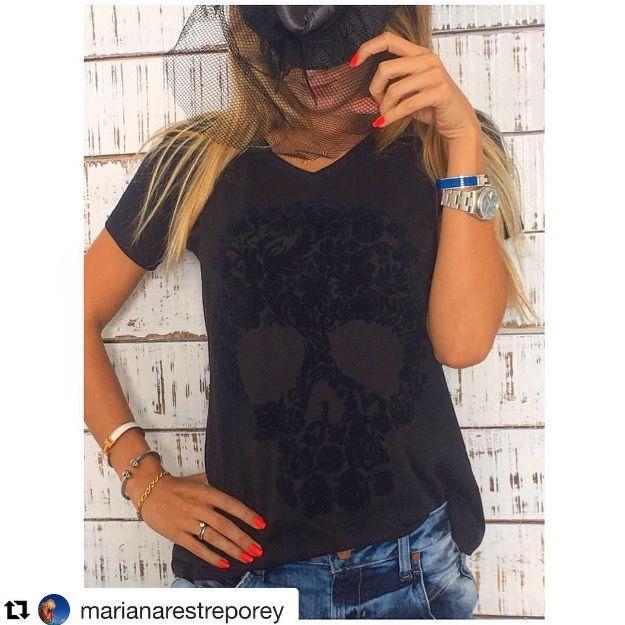 #Repost @marianarestreporey:  Rocking my @neim_official t-shirt ☠️🎃🔝👻 H⃒A⃒P⃒P⃒Y⃒ H⃒A⃒L⃒L⃒☠️W⃒E⃒E⃒N⃒••• Loving NEIM🎃☠️