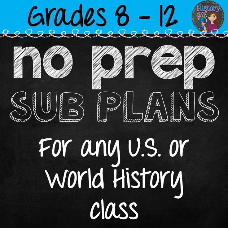 $ These No Prep Emergency Sub Plans will work at any time during the year for any U.S. or World History class. Put a copy of the activities in your sub folder and you'll never have to stress about sub plans again!