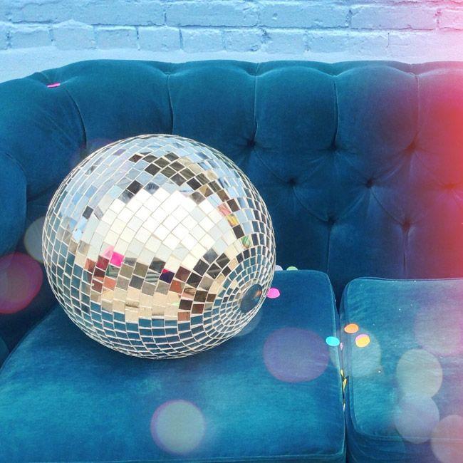 Disco ball, to hang down in center of dance floor
