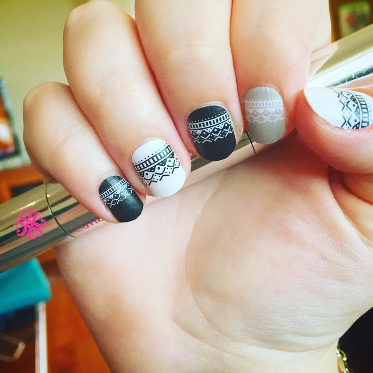 """""""In Stitches"""" available at nickystone.jamberry.com  #jamberry #nails #beauty """"institchesjn"""