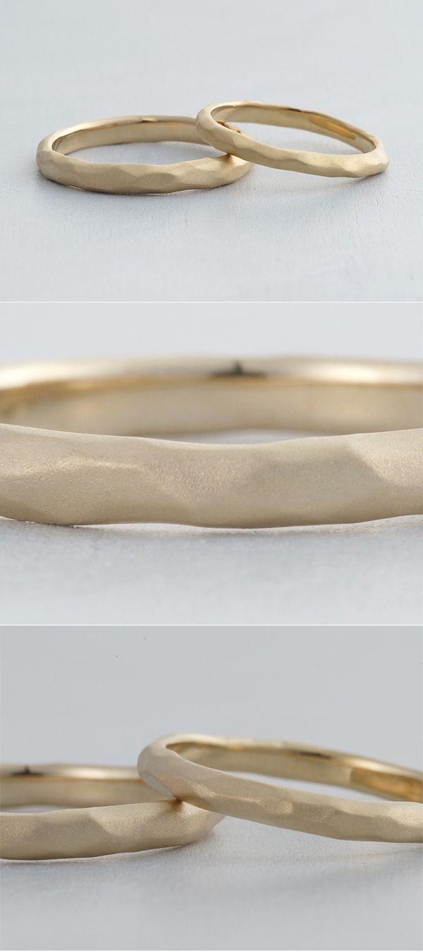 K18(ゴールド),つや消し/マリッジリング:Deserto(デザート) [結婚指輪,オーダーメイド,マリッジリング,marriage,wedding,ring,gold,]