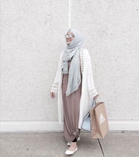 neutral hijab outfit- Neutral hijab outfit ideas http://www.justtrendygirls.com/neutral-hijab-outfit-ideas/