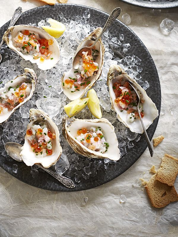 Oyster and scallop tartare - This recipe for oyster and scallop tartare makes for an impressive starter over the festive season