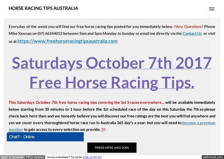 Saturdays October 7th Free Horse Racing Tips