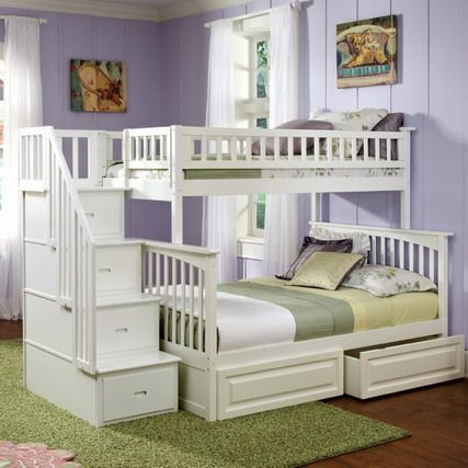 make your bedroom larger using bunk beds