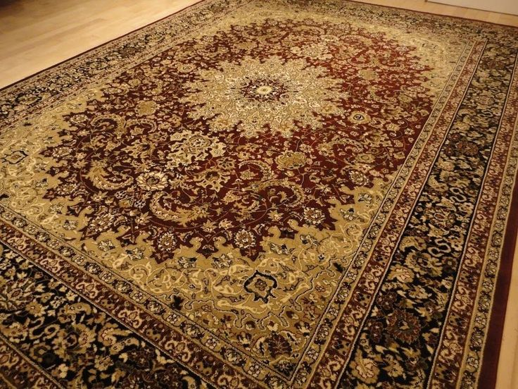 Large Traditional Rug Red 8x11 Rug Persian 5x8 Area Rugs 8x10 Burgundy  Carpet