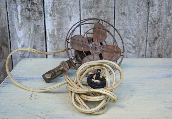 Small Metal Desk Clamp Fan  Vintage Fan Desk Fan by Vintassentials, $85.00