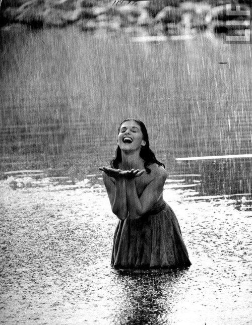 Be happy when it rains, Dance in it, Get wet & look forward to the rainbow :)