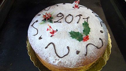 New Year's Cake - Vasilopita with orange and brandy aglaiakremezi.com