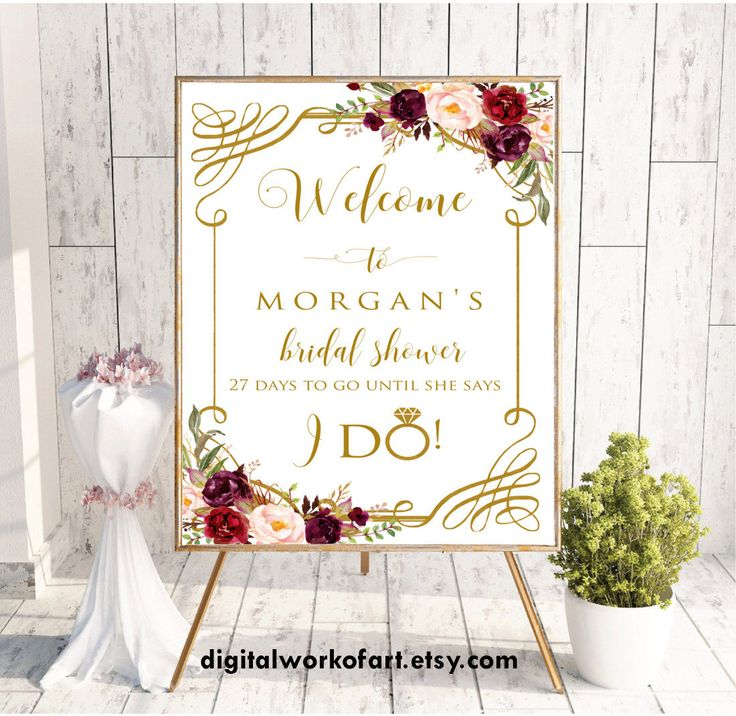 Welcome Sign, Welcome Bridal Shower Sign,Bridal Shower Decor,Bridal Shower Welcome Sign, Bridal Shower Sign,Printable Bridal Shower Sign,#LC by digitalworkofart on Etsy https://www.etsy.com/listing/522152965/welcome-sign-welcome-bridal-shower