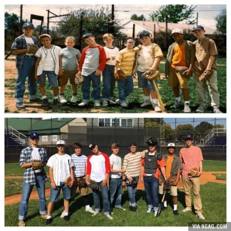They went as the kids from The Sandlot for costume day
